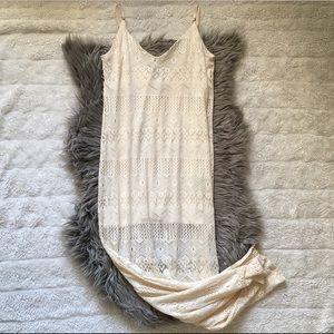Crochet Boho Maxi Dress